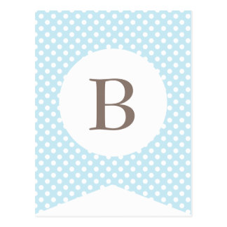 Blue Dot Baby Boy Party Flag Bunting Banner Postcard