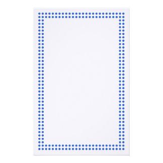 Blue Dot Frame Border Stationery