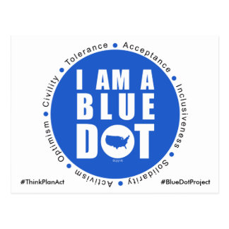 Blue Dot Project USA Postcard