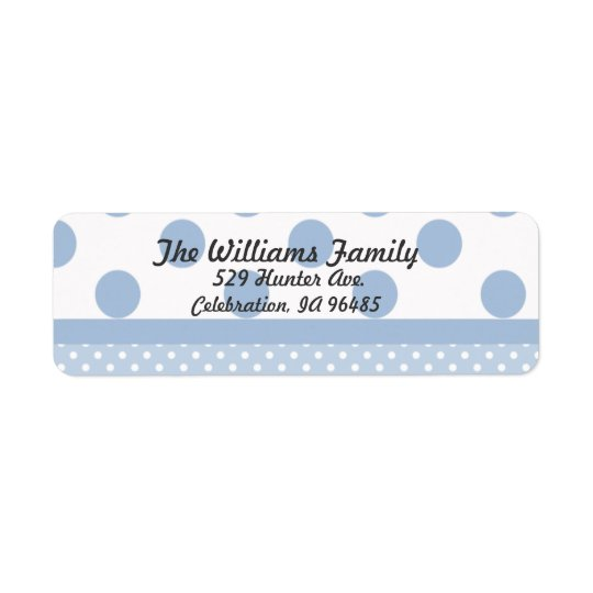 Blue Dots Address Label