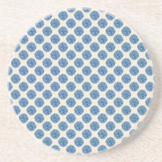 Blue dots coaster