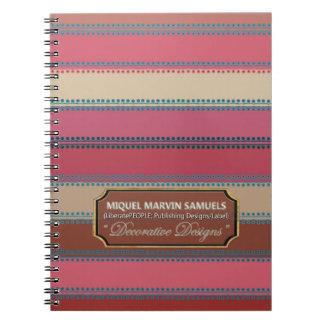 Blue Dots inline Decorative Pinks creams Notebook