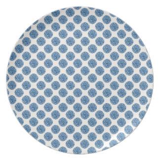 Blue dots plate