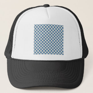 Blue dots trucker hat