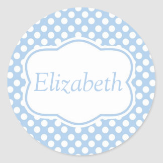 Blue Dotty Polka Dots Stickers