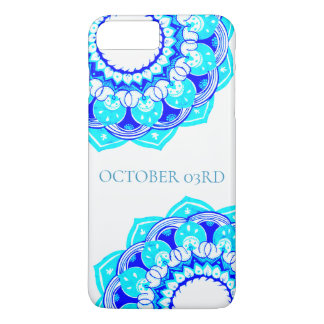 Blue Double Mandala Phonecase iPhone 8 Plus/7 Plus Case