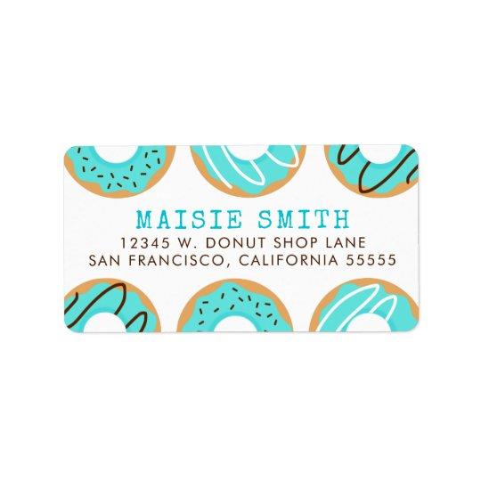 Blue Doughnuts Label