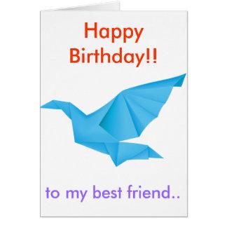 Blue Dove Birthday Card