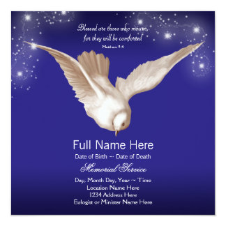 Blue Dove Memorial Service Announcements