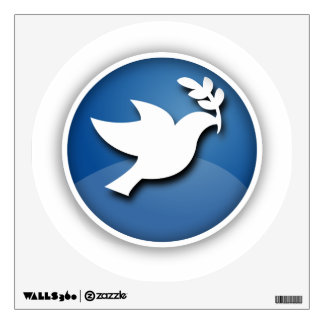 Blue Dove of Peace Wall Sticker