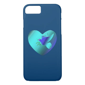 Blue Dove of the Sky Heart iPhone 8/7 Case