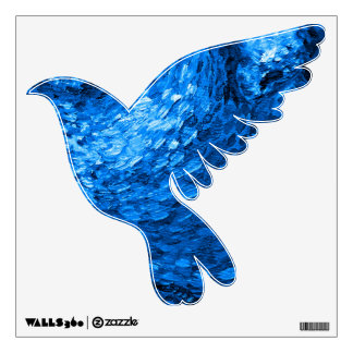 Blue Dove wall decal