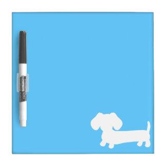 Blue doxie silhouette dry erase board