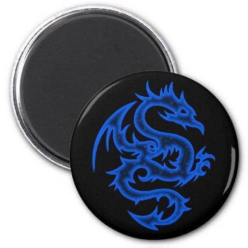 BLUE DRAGON 2 INCH ROUND MAGNET