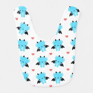 Blue Dragon and Polka Dots Bib