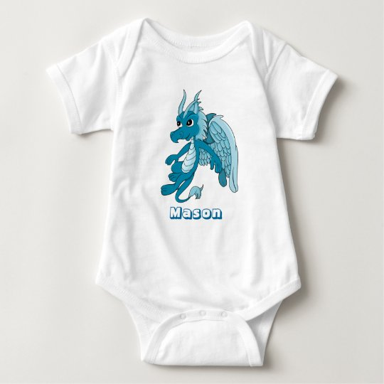 Blue dragon cartoon Infant Creeper