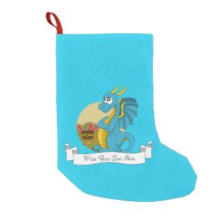 Blue dragon cartoon small christmas stocking