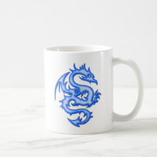 BLUE DRAGON CLASSIC WHITE COFFEE MUG