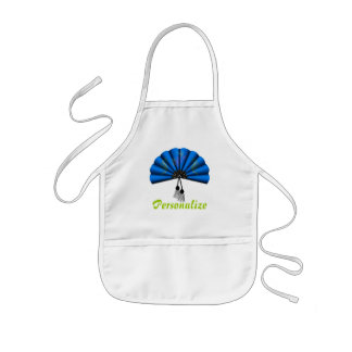 Blue Dragon Fan Pixel Art Kids Apron
