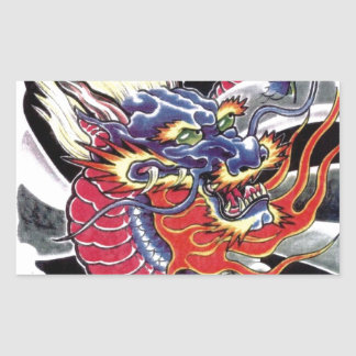 Blue Dragon Japanese tattoo design Sticker