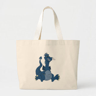 Blue Dragon Large Tote Bag