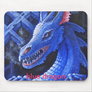 Blue dragon mouse pad