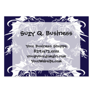 Blue Dragon Mythical Creature Fantasy Design Large Business Card