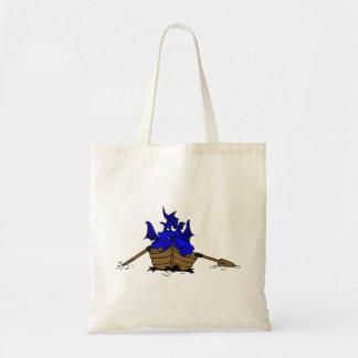 Blue Dragon On Boat Tote Bag