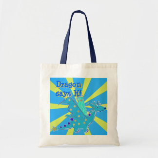 Blue Dragon says Hi Gift Budget Tote Bag