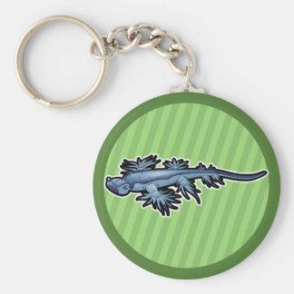 Blue Dragon Sea Slug Nudibranch Keychain