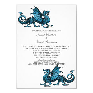 Blue Dragon Wedding Invite