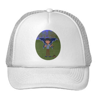 Blue Dragon Winged Musical Boy Faerie Mesh Hats