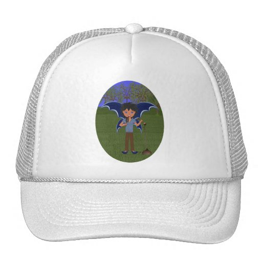 Blue Dragon Winged Musical Boy Faerie Mesh Hats