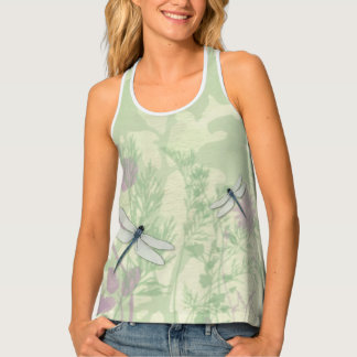 Blue Dragonflies All-Over Print Racerback Tank Top