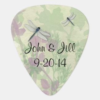 Blue Dragonflies Guitar Pick Wedding Favor