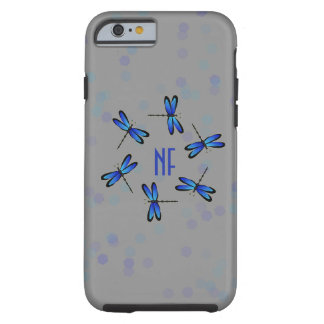 blue dragonflies hexagon tough iPhone 6 case