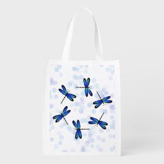 blue dragonflies II Market Totes