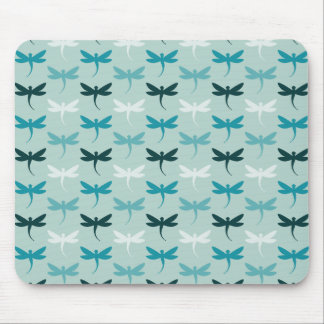 Blue Dragonflies Mouse Pad