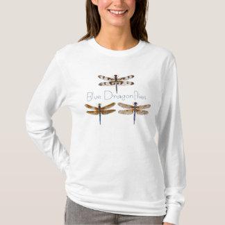 Blue Dragonflies. T-Shirt