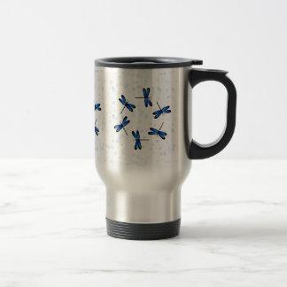 blue dragonflies travel mug