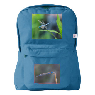 Blue Dragonfly and Damselfly Backpack