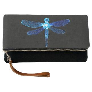 Blue Dragonfly Clutch Purse