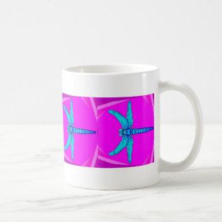 Blue Dragonfly Fuchsia Coffee Cup by SHARLES Mug