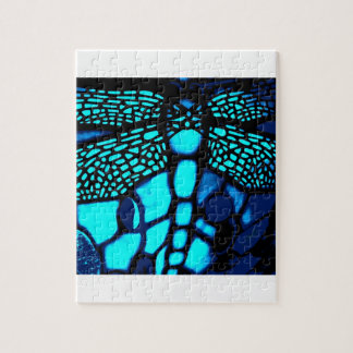 blue dragonfly jigsaw puzzle