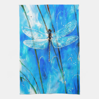 Blue Dragonfly Kitchen Towel