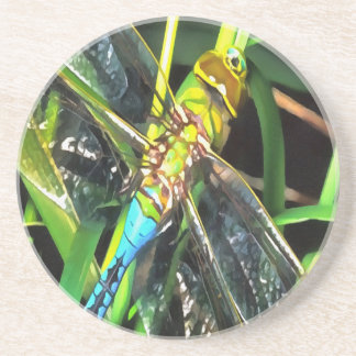 Blue Dragonfly Wings Coaster
