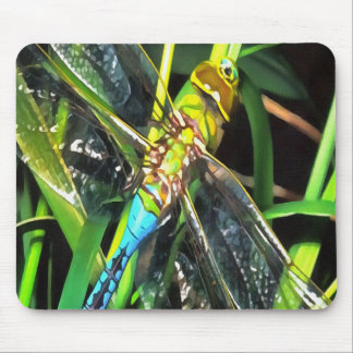Blue Dragonfly Wings Mouse Pad