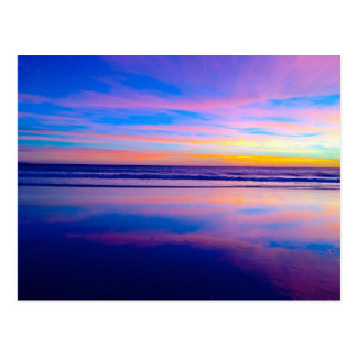 Blue Dream Sunset, Santa Monica Postcard