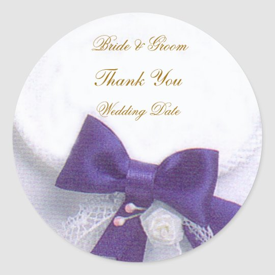 Blue Dream Wedding Thank You Sticker