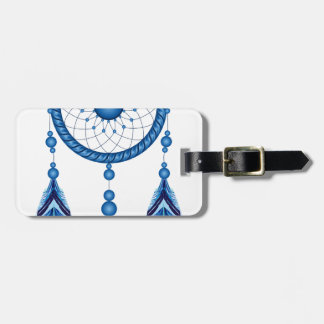 Blue Dreamcatcher Luggage Tag